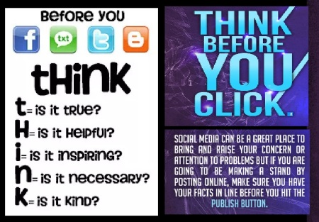 Social media responsibility-think before you click