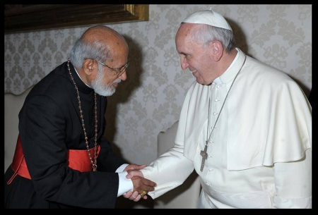 Cardinal George Alencherry with Pope