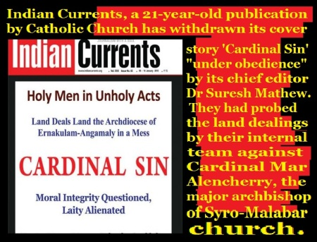 India currents asked to withdraw article on Cardinal
