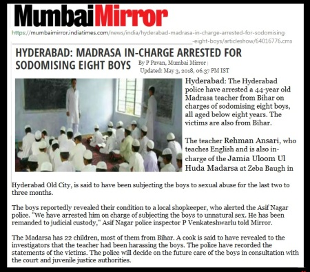 Madrassa teacher held - Mumbai Mirror - 04-05-2018